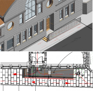 Proposed ramp and front entrance of Silsden Town Hall